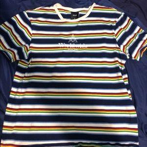 huf worldwide short sleeve striped shirt